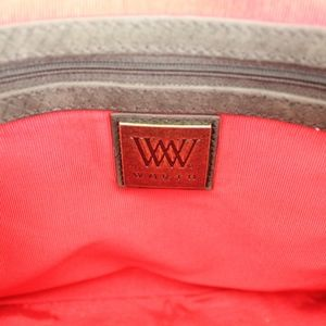 Worth Bags - W by Worth Leather Snake Skin Shoulder Chain Bag